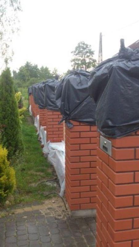 wymurowane ogrodzenie 5