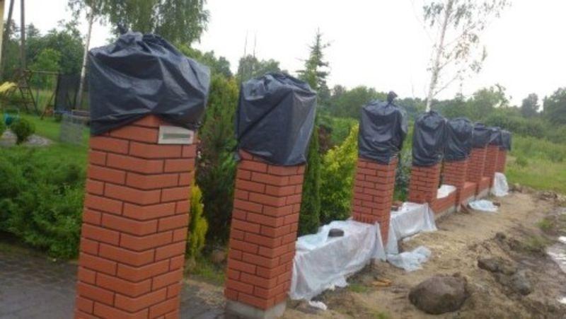 wymurowane ogrodzenie 4