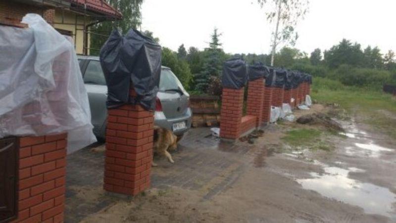 wymurowane ogrodzenie 2
