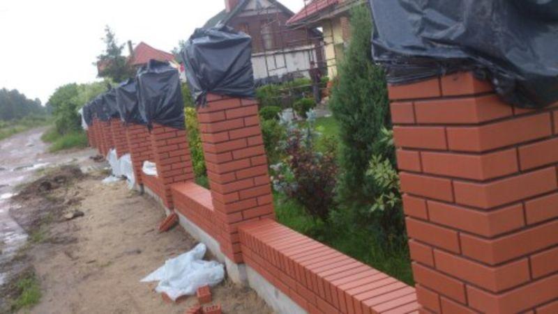 wymurowane ogrodzenie 1