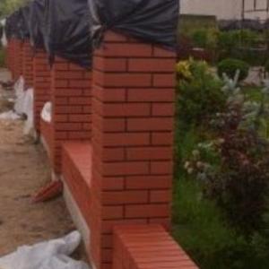 wymurowane ogrodzenie 3